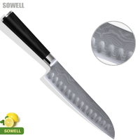 NEW SOWELL Brand Damascus Knife Black Straight Handle 7 Japanese Cook S Knife High End Kitchen