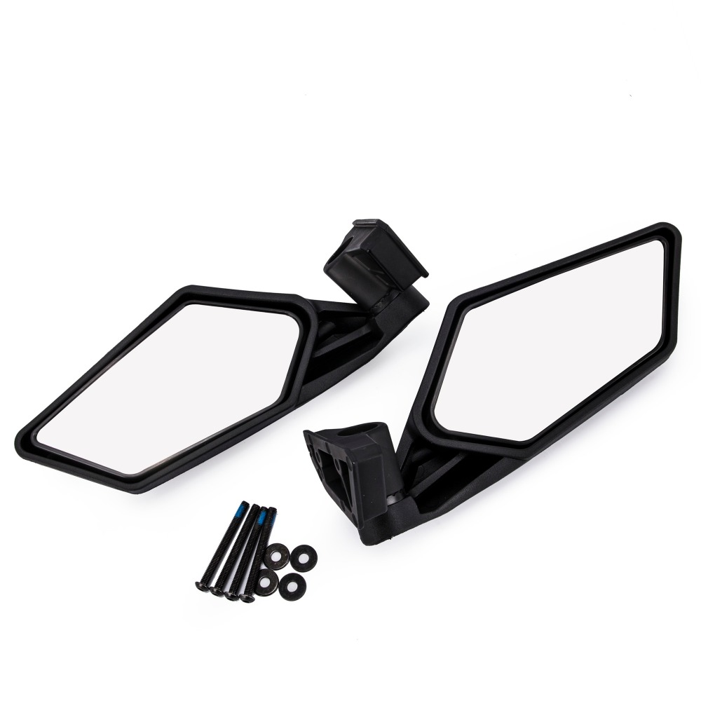 UTV Side Mirror Rear view Mirror Racing Side Mirrors for UTV Polaris RZR Can Am Maverick X3 2017 2018 polaris am pilgrim
