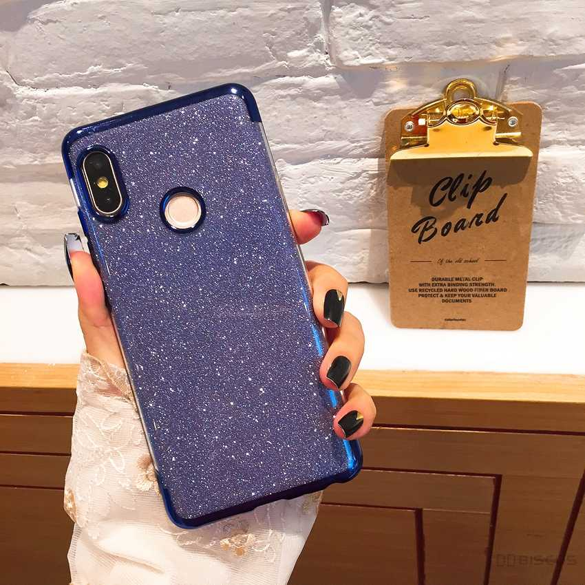 Bling Rubber Glitter Case for Samsung Galaxy A20E A20 A40 A30 A50 A10 M10 M20 M30 A60 A70 A6 A7 A8 Plus 2018 Soft Silicone Case