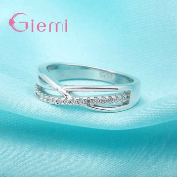 Cubic Zirconia Rings For Women Filled Crystal Type Trendy Fashion 925 Sterling Silver Rings Jewelry Bijouterie Wholesale 1