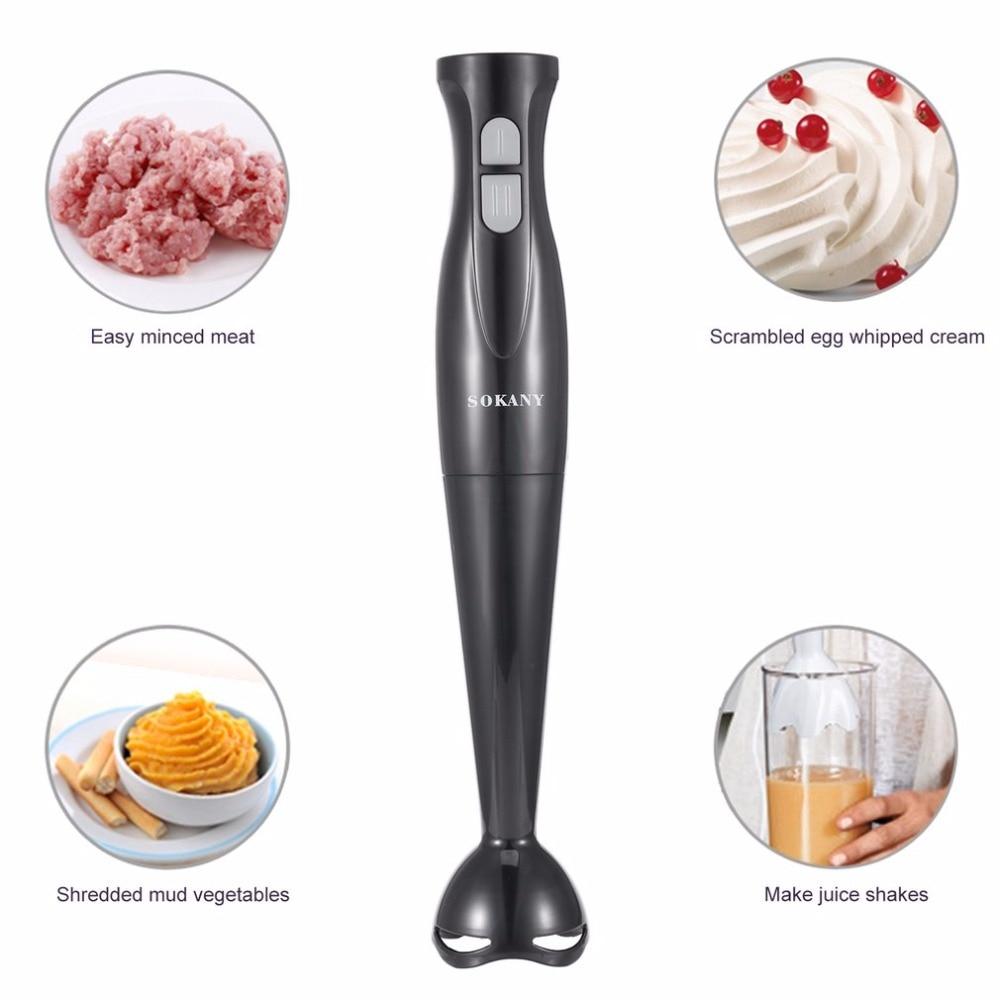 SOKANY Electric Handheld Blender Meat Grinder Food MIxer Processor Multifunctional Household Babycook 200W Hand Agitator
