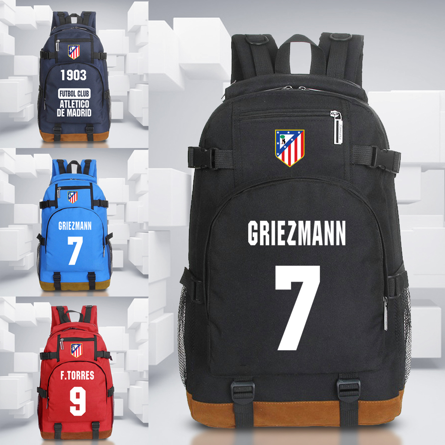 Hot Atletico Madrid Backpack For Football Teenager Back To School Student Bags Christmas Gift For The Football Kids