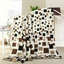 UNIHOME king/queen/полный размер Домашний текстиль Модные клетчатые теплые коралловые флисовые одеяла на кровать пледы постельное белье
