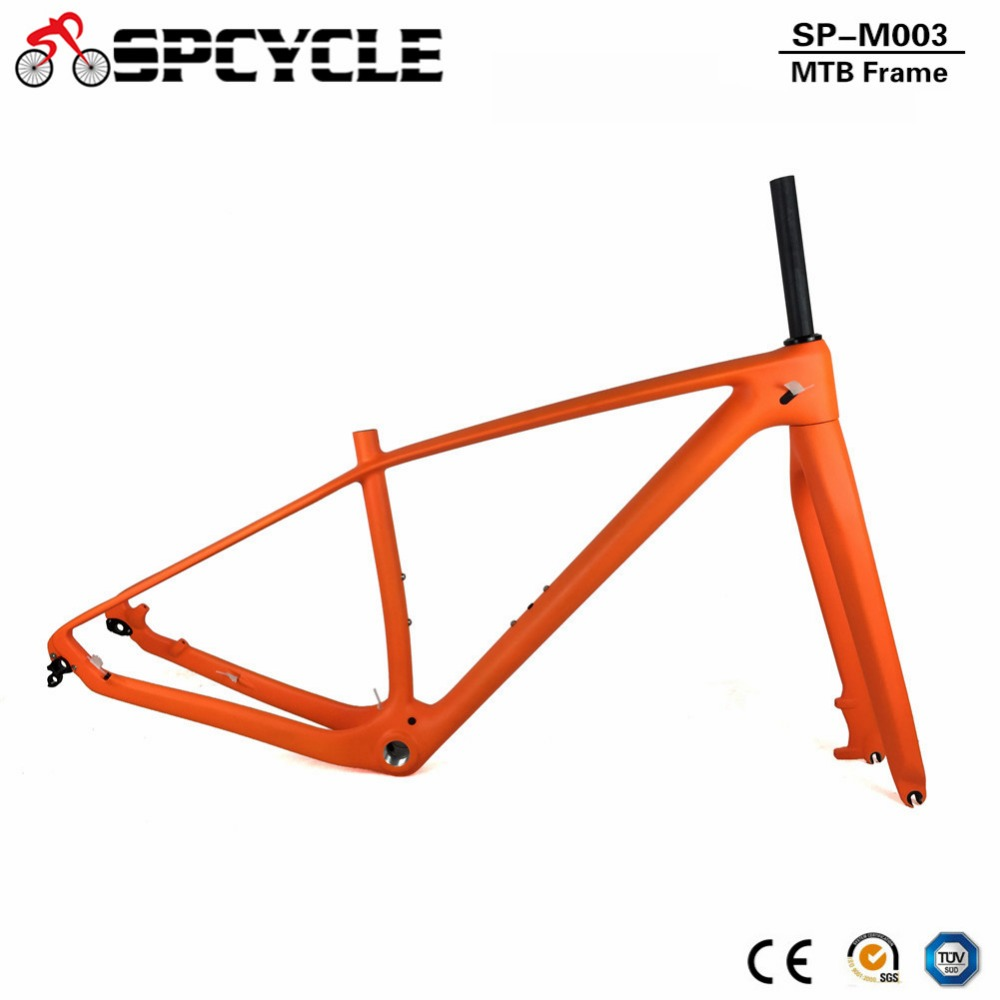 Spcycle 2019 New 29er T1000 Full Carbon MTB Frame And Fork 27 5er 650B Mountain Bike