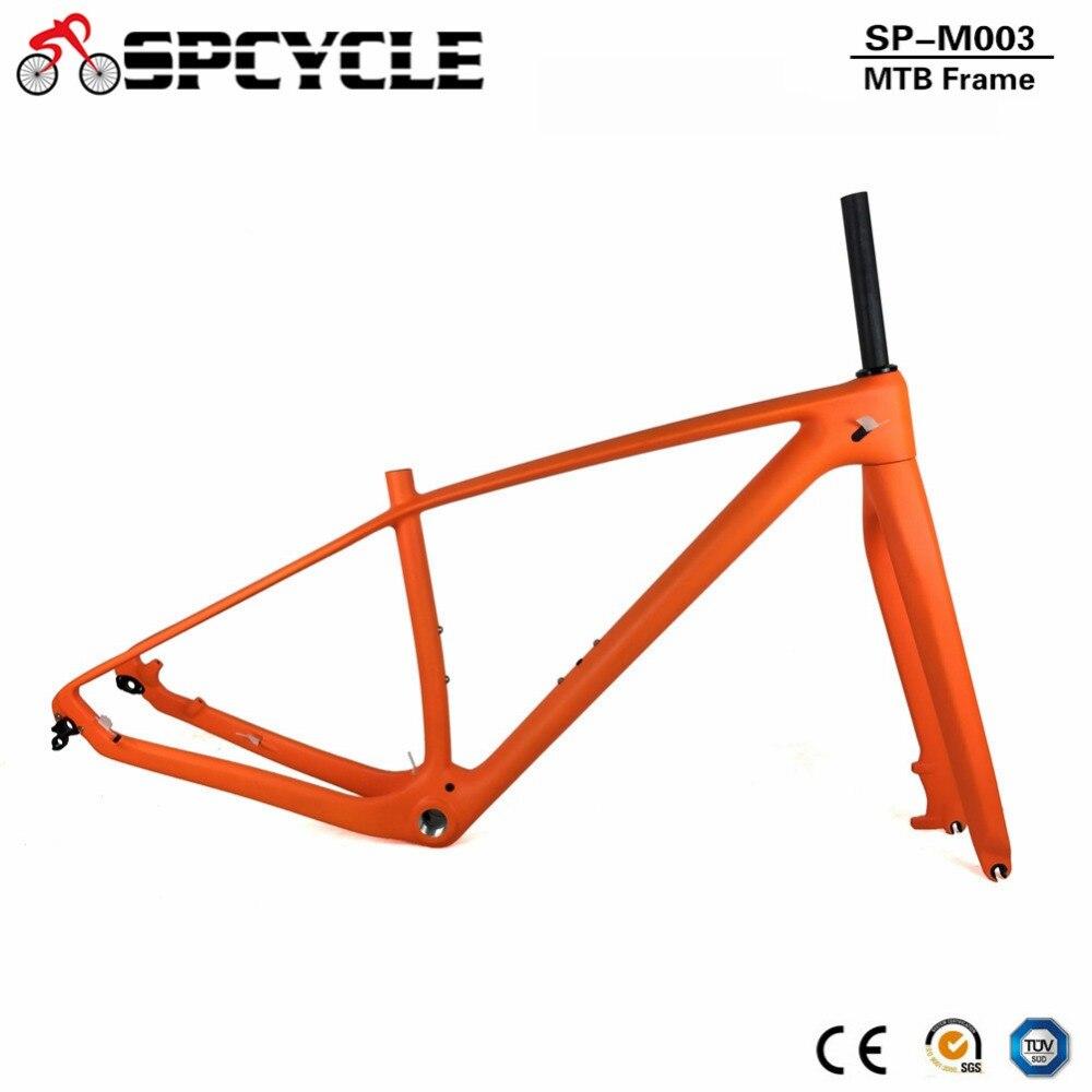 Spcycle 2019 New 29er T1000 Full Carbon MTB Frame And Fork 27.5er 650B Mountain Bike Carbon Frameset QR Or Thru Axle Available