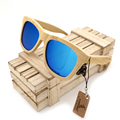 BOBO BIRD Wooden Bamboo Sunglasses Polarized UV400 Protection Brand Design Men Sunglasses Eyewear Wit Bamboo Box gafas de sol
