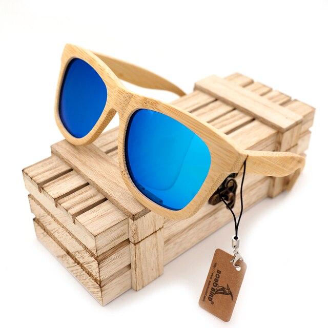 BOBO BIRD Wooden Bamboo Sunglasses Polarized UV400 Protection Brand Design Men Sunglasses Eyewear Wit Bamboo Box gafas de sol
