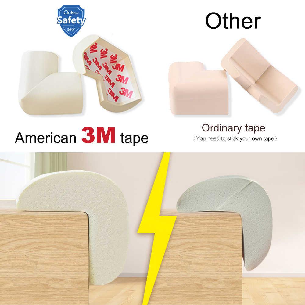 5M + 8 Uds. A prueba de seguridad para bebés protecciones de borde de esquina protectores para las esquinas de las mesas protección para niños amortiguador de muebles cojín de esquina