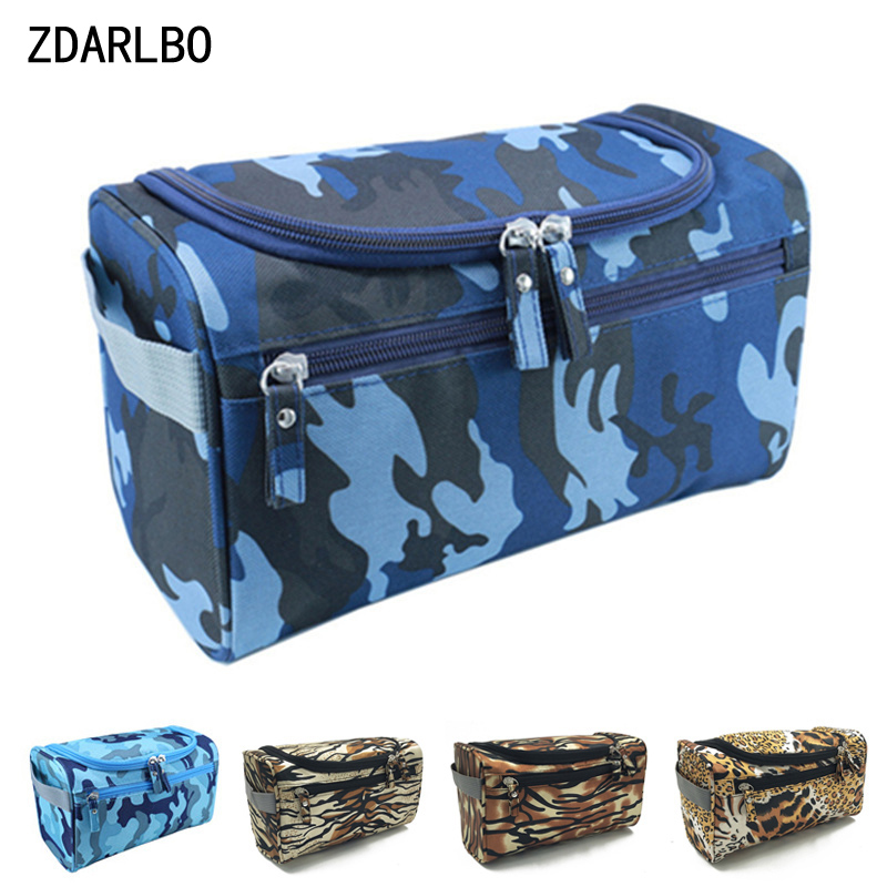 ZDARLBO Men's Travel Waterproof Toilet Bag Organizer Leopard Print Cosmetic Bags For Women Make Up Case Beautician Toiletry Bag