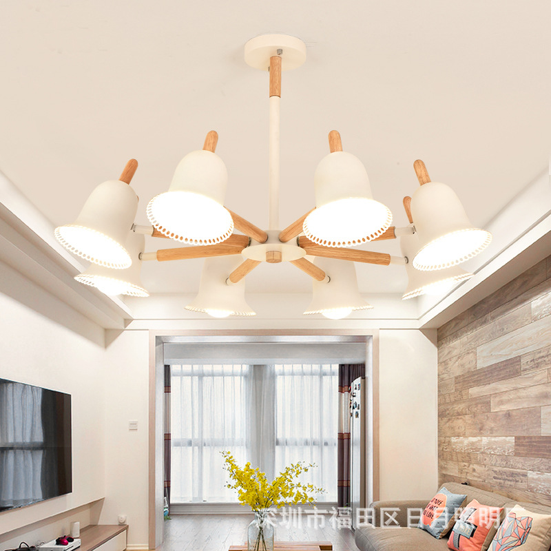 Nordic Pendant Lights Wood Aluminum hat Lampshade Industrial Lighting Loft Lamparas Colorful Lamp E27 Base Light Fixtures