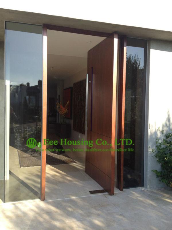 Portes d'entrée avant peu encombrantes à vendre, portes en bois d'appartement