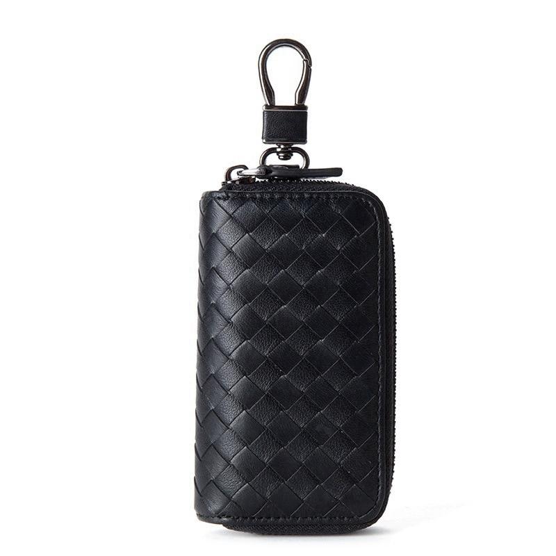 Case New Fashion Key Wallet High-end Genuine Leather Sheepskin Knitting Car Key