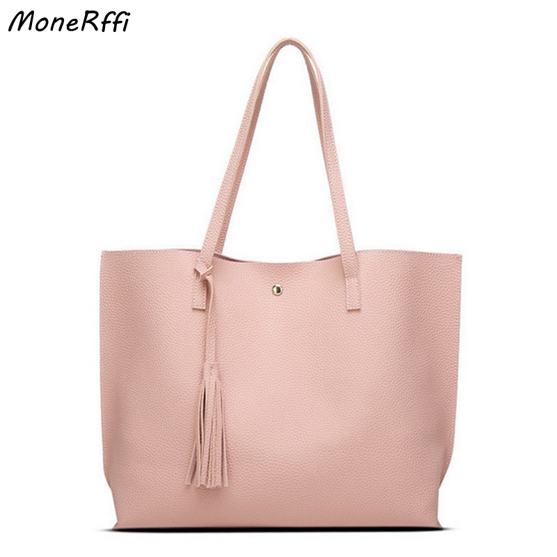 Women Messenger Bags Leather Casual Tassel Handbags Female Designer Bag Vintage Big Size Tote Shoulder Bag High Quality Bolsos