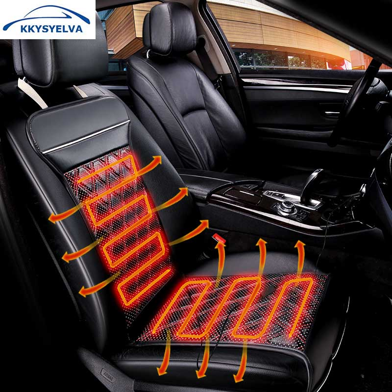 KKYSYELVA 1PCS Car Heated Seat Covers Auto 12V Heating Heater Cushion Warmer Pad Winter Seat Covers Universal Car Seat Covers 12v electric car heated seat cushion cover auto heating heater warmer pad winter car seat cover supplies hight quality