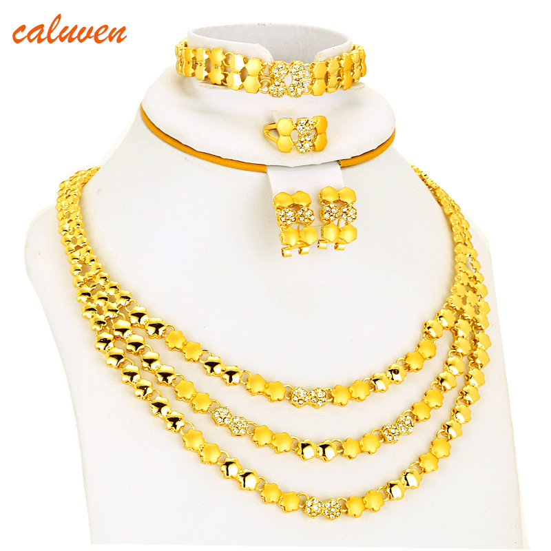 White Color Stone Ethiopian/Eritrea/Habesha Chokers Yellow Color Jewelry Sets For Earring/Necklace Women Gift Gold Color