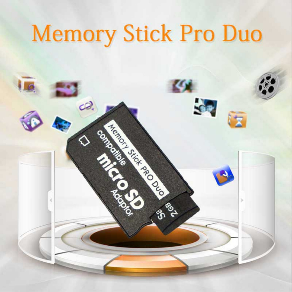 Micro SD SDHC TF To Memory Stick MS Pro Duo Reader Adapter Converter For PSP 1000 2000 3000 Card Cover