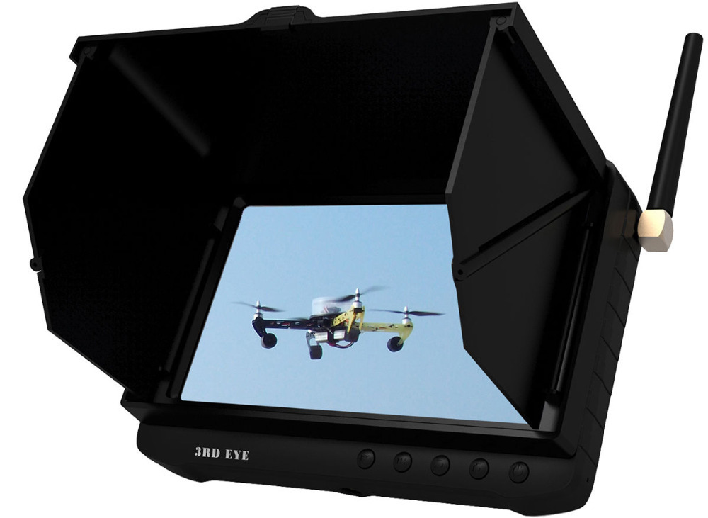 Fashion FPV 5.8G 32 Channels Wireless Mini DVR LCD Monitor 5 inch Diversity FPV Monitor for Helicopter Sunshield 5.8Ghz TE981H станок сверлильный herz hz bd13b