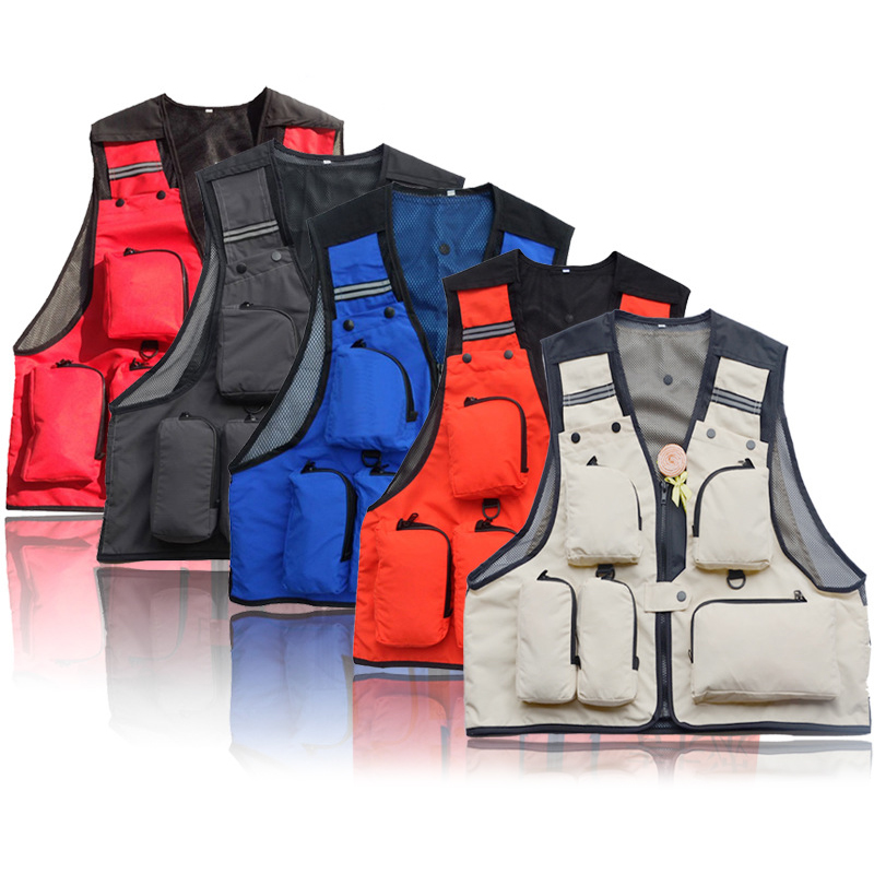 Fly Fishing Vest Mesh Jacket Men Sleeveless Photography Waistcoat Outdoor Premium Gear Packs And Life Vests For Fly Fishing Male