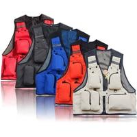 Fly Fishing Vest Mesh Jacket Men Sleeveless Photography Waistcoat Outdoor Premium Gear Packs And Life Vests