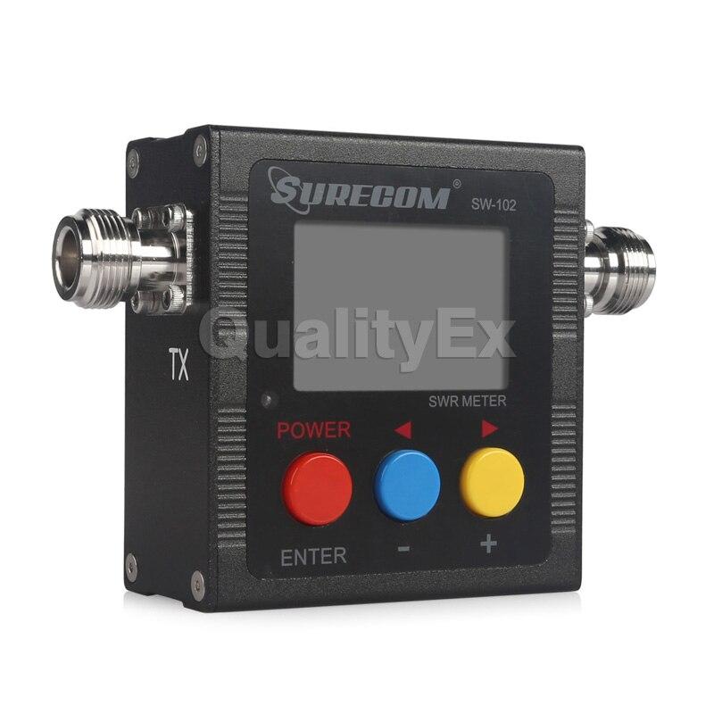 imágenes para SURECOM SW-102 100-520 Mhz Digital VHF/UHF SWR Medidor de Potencia de la Antena para la Radio De Mano SW102