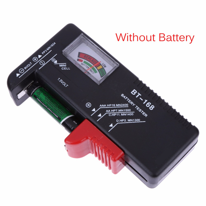 Universal BT168 Digital Tester Volt Checker For AA AAA 9V Button Multiple Size Voltage Meter Tools BT168