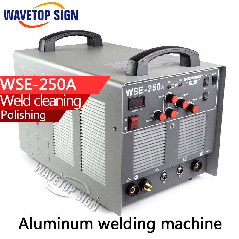 Aluminum welding machine WSE250A +welding machine+TIG welding machine wse 200 inverter square wave dc welding machine welding aluminum machine 220v can welding aluminum material