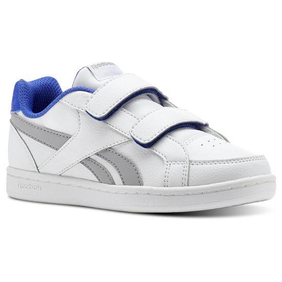 REEBOK Child shoes Unisex REEBOK ROYAL PRIME ALT, free and Time sportwear, White Stark Greys Acid Blue