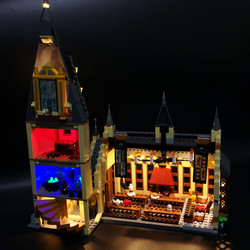 Zestaw światła Led do obsługi Lego 75954 Harry Movie kompatybilny 16052 hogwart wielka hala klocki klocki zabawki