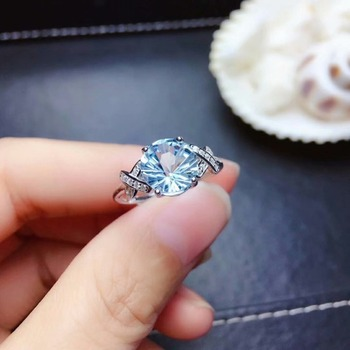 shilovem 925 silver sterling rings natural topaz trendy fine Jewelry women wedding new wholesale open gift mj080866agb