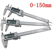 Stainless Steel 6 inch 150mm Digital Measuring Ruler as Vernier Caliper