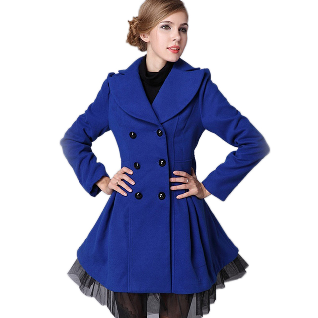 2016 Best Goods Spring Women Windbreaker Skirt Gauze Spodoptera Element Collar Turndown Stitching Female Clothing Elegant Button
