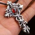 Handmade 925 Silver Cross Dragon Pendant for Men Vintage Sterling SIlver Dragon Pendant