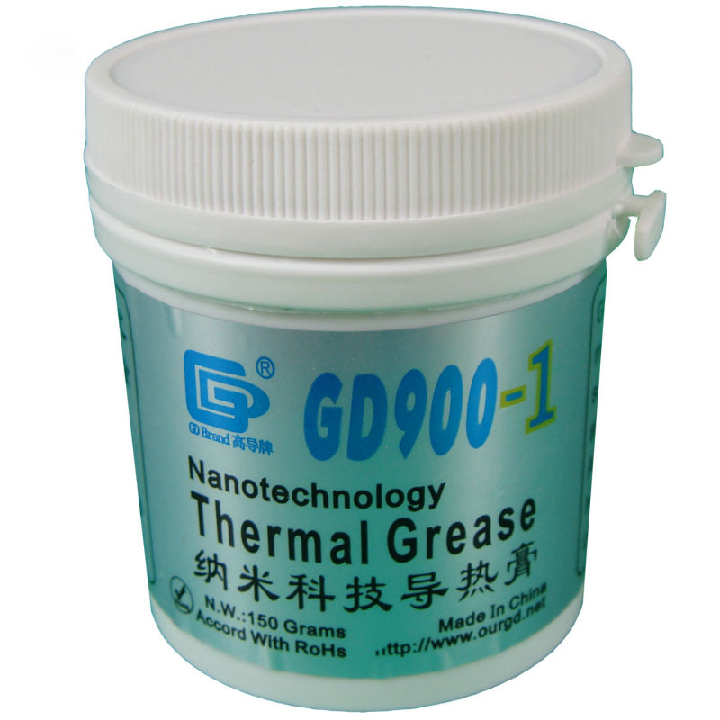 GD900-1 Gray Weight 150 gram Thermal Grease Silicone High Performance For Heat Sink For CPU GPU Cooler CN150 gd450 thermal conductive grease paste silicone plaster heat sink compound net weight 1000 grams golden for led cpu cooler cn1000