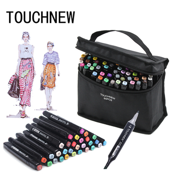 touchnew 40 60 80 168 colors graphic marker pens set sketch manga art student markers white pen TOUCHNEW 30/40/60/80/168 Colours Art Marker Set Alcohol Based Sketch Marker Pens For Drawing Manga Design Artist Supplies
