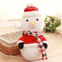 Christmas Snowman Sing Song Luminous Father Gift Plush Kawaii Soft Toys For Children Stuffed Lovely 50CM