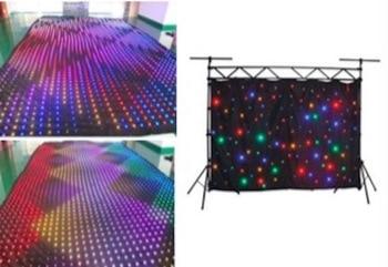 Della Fase Del LED Star Tenda 2x3 M, 3x4 M, 3x6 M, 4x6 M, 4x8 M, 5x7 M, 5x8 M RGBW SMD A Prova Di Fuoco Panno Di Velluto Con Il Regolatore Led Panno