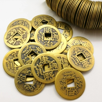 50 pcs Retro Copy Chinese Qing Ching Dynasty Antique Coins Ancient Chinese Coins Old Coin of China