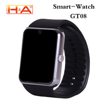 Reloj inteligente Reloj GT08 Con Ranura Para Tarjeta Sim Empuje Mensaje Conectividad Bluetooth para el iphone Android Teléfono Smartwatch