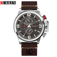 CURREN Mens Watches Top Brand Luxury Fashion Business Quartz Watch Men Sport Full Steel Waterproof Black