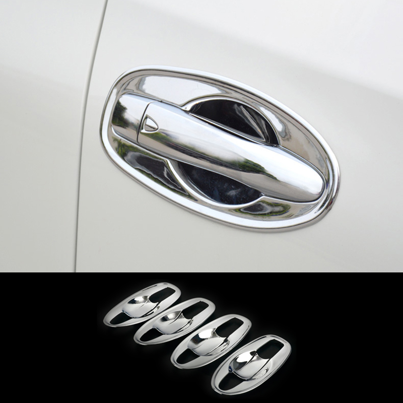 For <font><b>Nissan</b></font> Rogue <font><b>X</b></font>-<font><b>Trail</b></font> T32 2014 2015 2016 2017 Chrome <font><b>Door</b></font> <font><b>Handle</b></font> Bowl Cover Cup Cavity Trim Insert Catch Molding Garnish 8pcs image