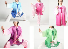 5colors purple/green/blue/red/yellow unisex men&women High-grade chiffon tai chi veilcape kung fumartial arts suits uniforms(China)