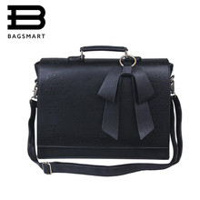 BAGSMART New Fashion Women Leather Handbags Vintage Pu Leather Messenger Bags Shoulder Business Laptop Messenger Bags