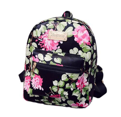 ecoparty 2017 New Fashion Printing Backpack School Bags For Teenagers PU Leather Girls Travel Bag Women Backpacks High Quality