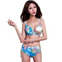 2018 Direct Selling Real Summer Style Retro Bikinis Set Women Bandage High Waist Swimsuit Ladies Swimwear