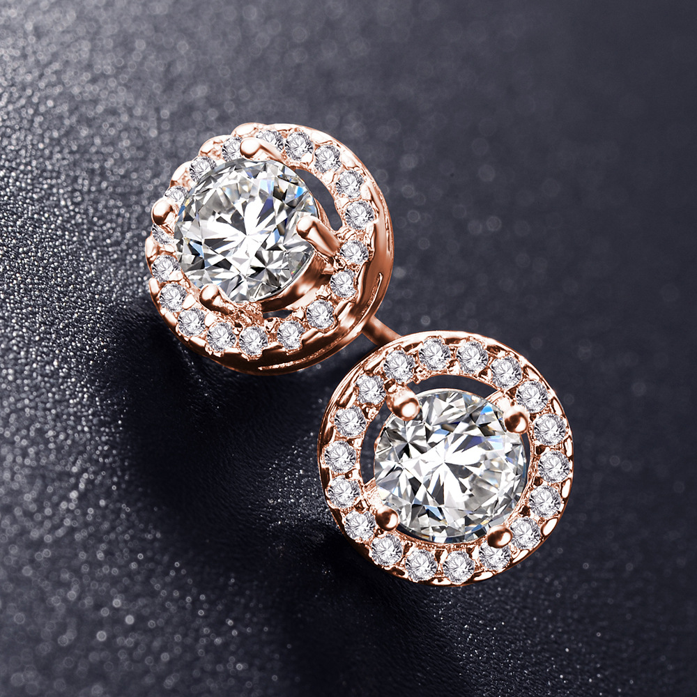 2020 NEW Real white gold color zircon earrings Snowflake earring crystals from Swarovskis couple gift wild earrings