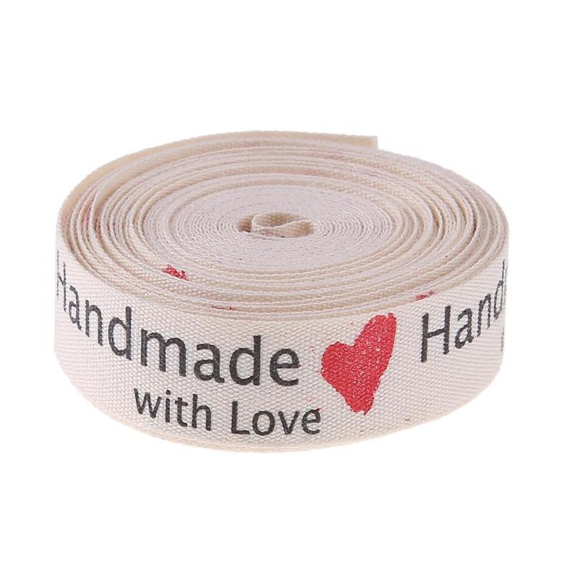 Ручной работы из хлопка Любовь Лента Костюмы Метки ленты DIY ручной бантом Швейные аксессуары украшения дома