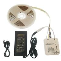 WIFI LED Strip 5M RGB +W +WW DC12V Tape Tira Neon Ribbon Light + wifi controller + 5A power adapter