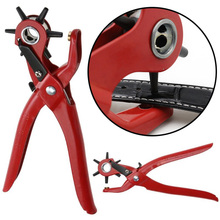 цена на Punch Hole Tool Belt Punching Pliers Multifunction Revolving Stainless Steel Hole Punch Leather Hole Punch Punch Plier Fabric