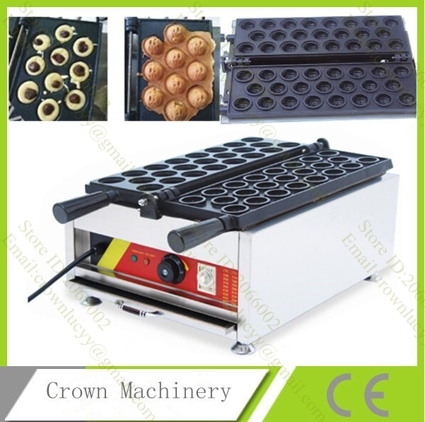 Commecial Electric Walnut Waffle Pan Maker Cake Machine Snack