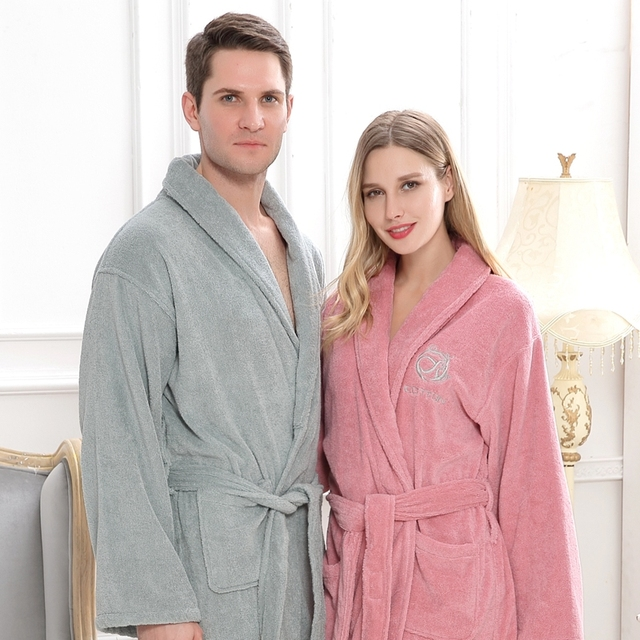 b3a06ad37f Cotton men bathrobe pijamas XXL plus size long thick winter towel fleece  nightgown bridesmaid kimono robe